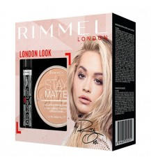 Rimmel Zestaw London look Tusz do rzęs + puder