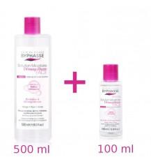 BYPHASSE FACE Płyn micelarny dla skóry wrażliwej, 500 ml +100 ml