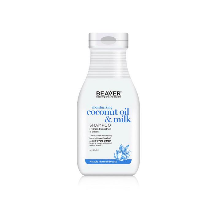 BEAVER Szampon Coconut Oil & Milk,...
