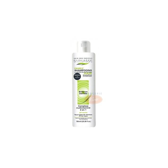 BYPHASSE FAMILY Multiwitaminowy szampon z odżywką, 750 ml