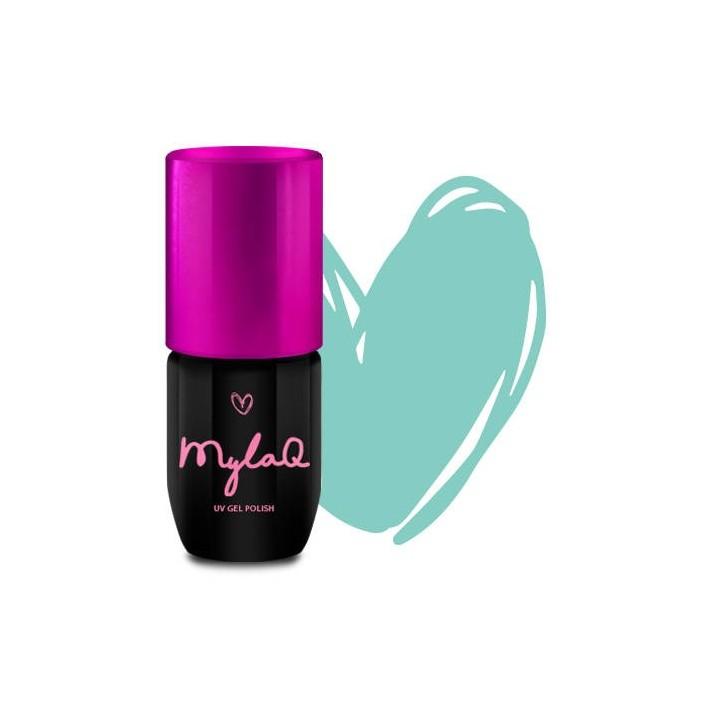 MYLAQ Lakier hybrydowy My Mint Kiss,...