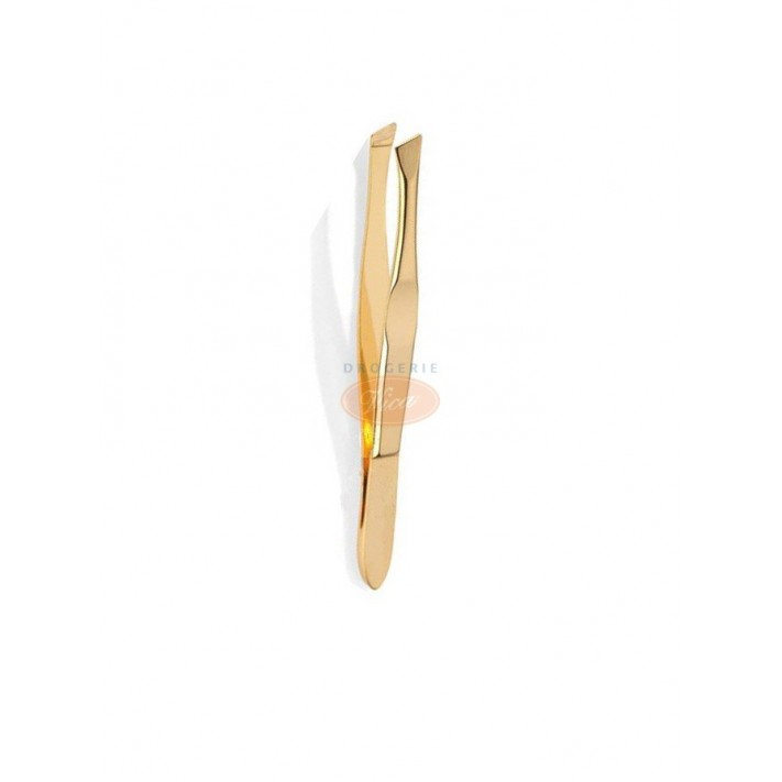 SOLINGEN-MILLER Pęseta skośna, złota 7,5 cm