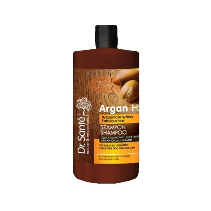 DR SANTE Szampon z olejkiem arganowym i keratyną, do włosów uszkodzonych, 1000ml