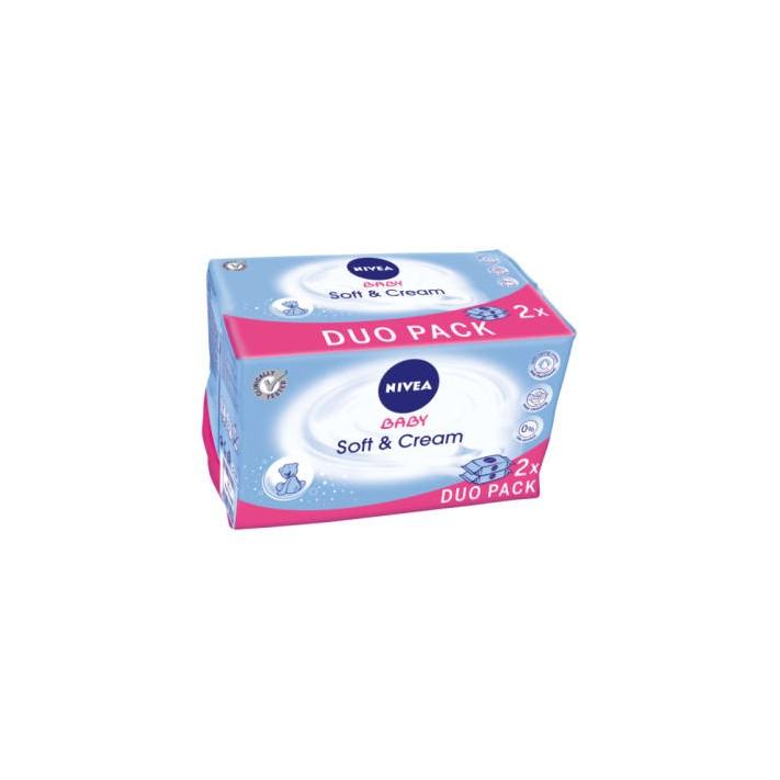 NIVEA Baby Chusteczki Soft&Care 2x63...
