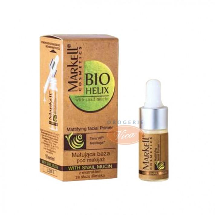 MARKELL BIO-HELIX Matująca baza pod makijaż z ekstraktem ze śluzu ślimaka, 10ml