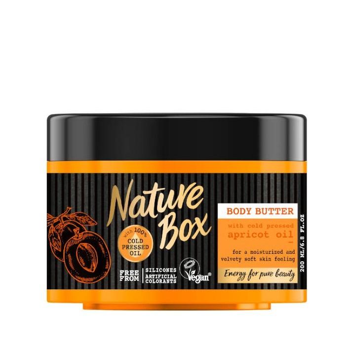 NATURE BOX Masło do ciała morela, 200 ml