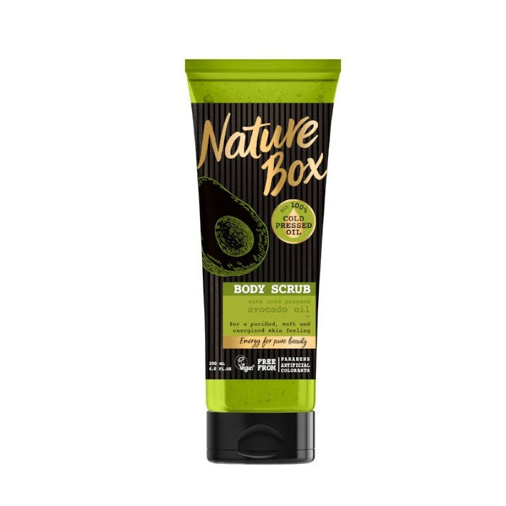 NATURE BOX Scrub do ciała awokado,...