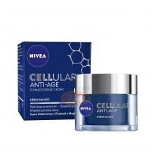 NIVEA CELLUAR Anti-Age Odmładzający krem na noc z kwasem Hialuronowym i ekstraktem z Magnolii, 50 ml