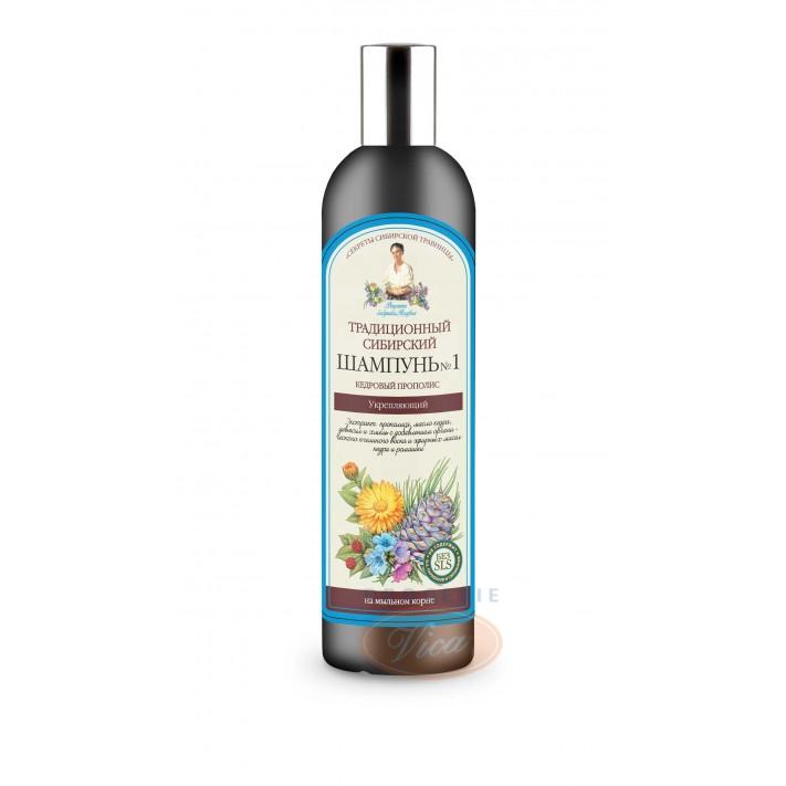 BABCIA AGAFIA Syberyjski, wzmacniający szampon do włosów, 550 ml