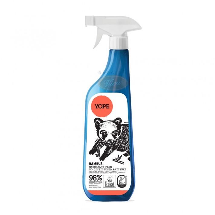 YOPE Naturalny płyn do czyszczenia łazienki Bambus Spray, 750 ml