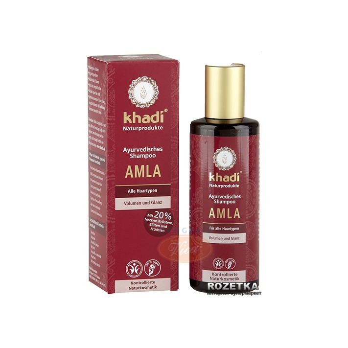 KHADI Wzmacniający szampon do włosów AMLA, 210ml