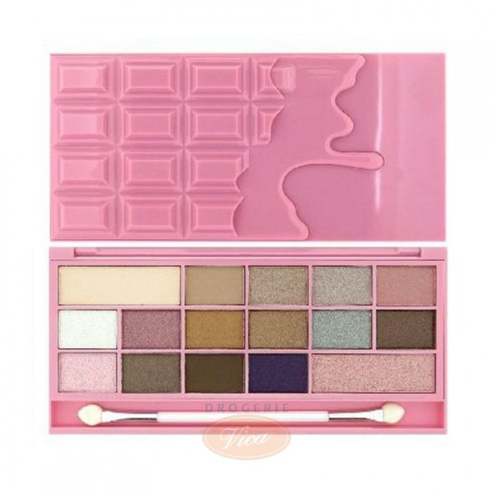 MAKEUP REVOLUTION I Love Make Up Palette Zestaw cieni do powiek Chocolate Pink Fizz (16 kolorów), 22 g