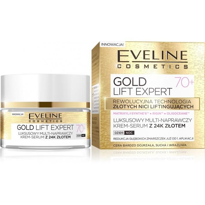 Eveline Gold Lift krem-serum 70+...