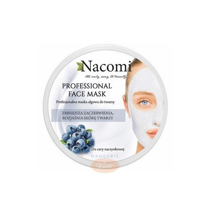 NACOMI Algowa maska do twarzy z borówkowa i witaminą C, 100ml