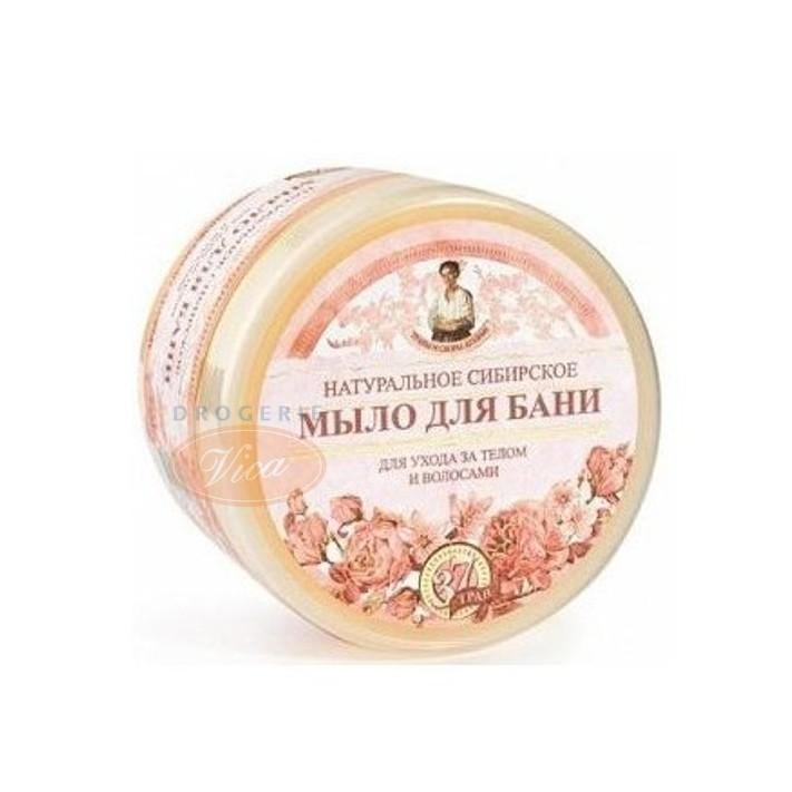 BABCIA AGAFIA Ziołowe syberyjskie, Kwiatowe mydło do mycia ciała oraz włosów, 500 ml