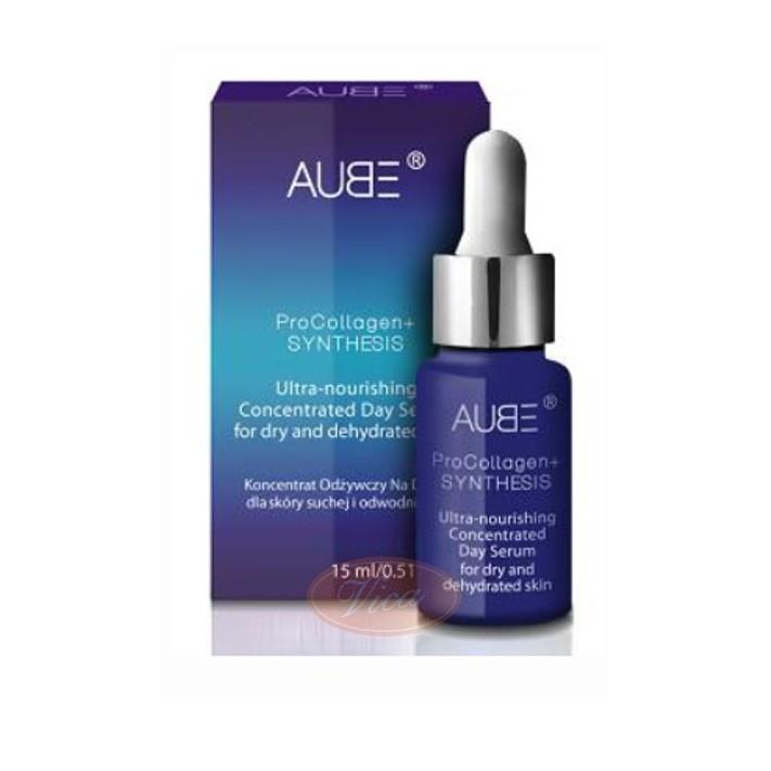 AUBE ProCollagen+ Synthesis, koncentrat odżywczy na dzień dla skóry suchej i odwodnionej, 15ml