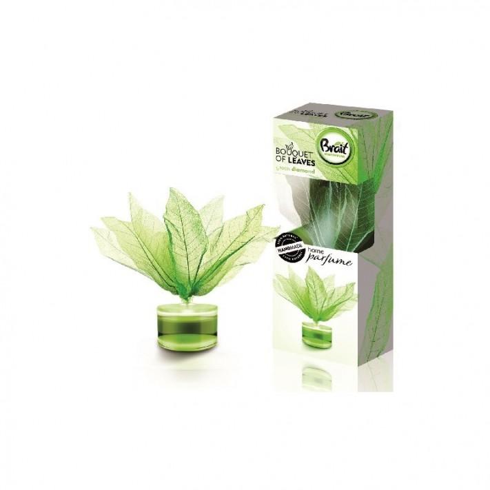 BRAIT Pachnące Listki do wnętrz Green Diamond – Energetyczny zapach luksusu, 50ml