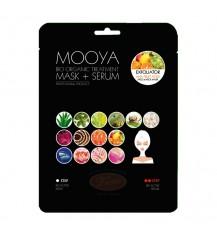 """MOOYA BIO Organiczny zabieg Kwasy AHA """"Efekt peelingu"""" Maska + krem"""