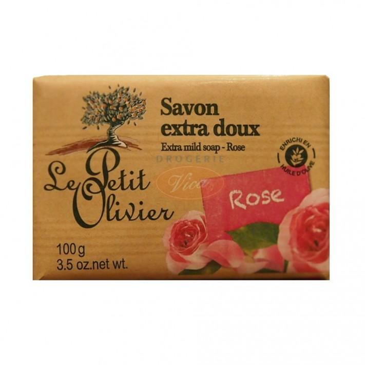 LE PETIT OLIVIER Mydło marsylskie z wyciągiem różanym, 100g