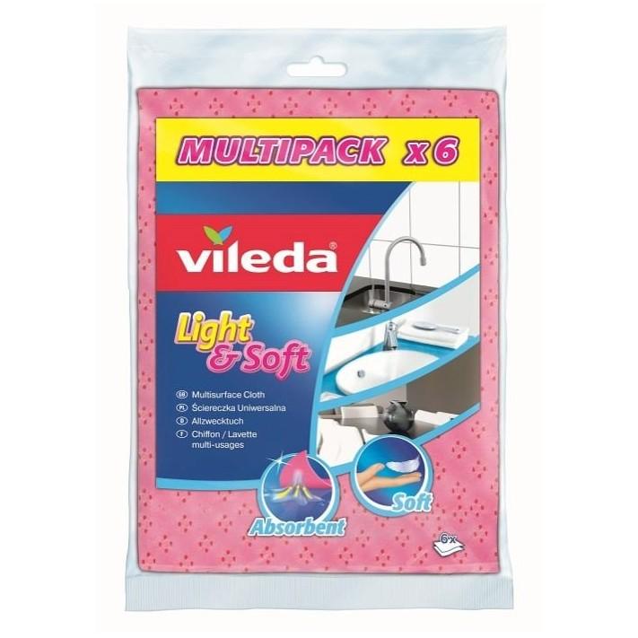 Ściereczka VILEDA Light&Soft, 6 szt.