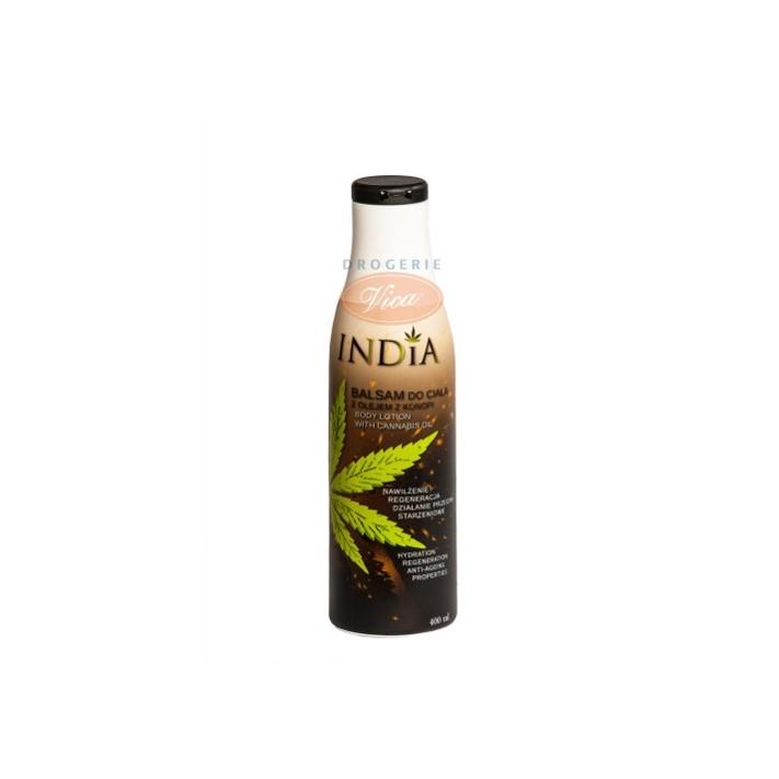 INDIA Balsam do ciała z olejem konopnym, 400 ml