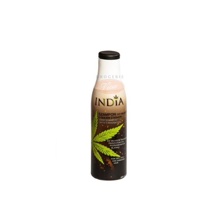 INDIA Szampon do włosów z olejem konopnym, 400 ml