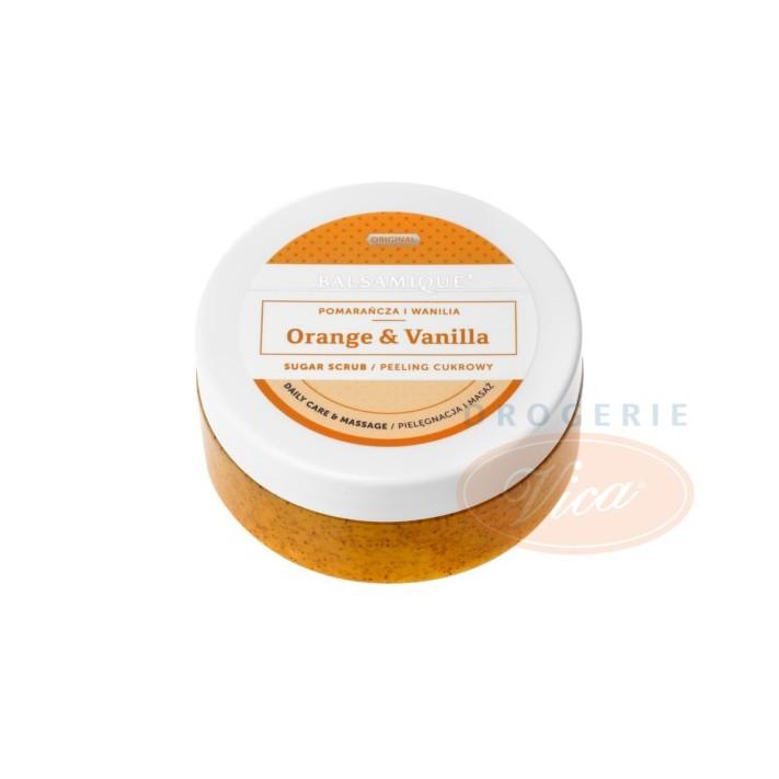 BALSAMIQUE peeling do ciała, pomarańcza i wanilia, 80 g