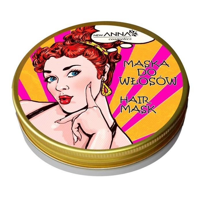 NEW ANNA COSMETICS Maska do włosów z naftą kosmetyczną, 300 ml